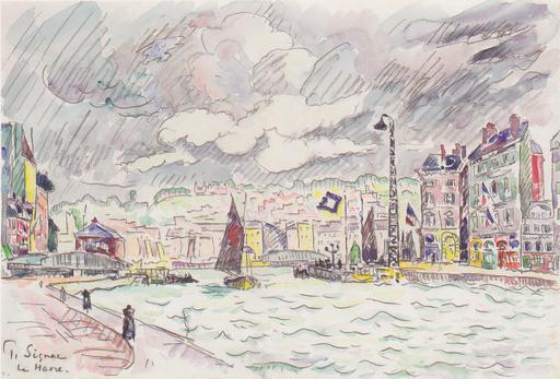 Le Havre sous la pluie