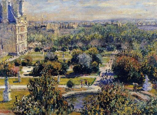 Le jardin des Tuileries en 1876