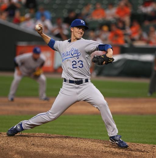 Le joueur de baseball Zack Greinke
