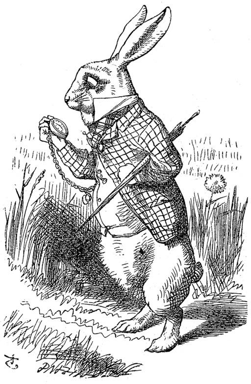 Le lapin d'Alice au pays des merveilles