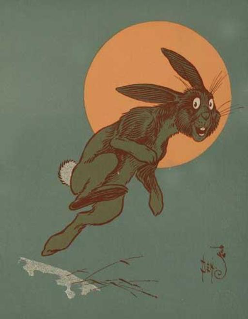 Le lapin échappe au chasseur