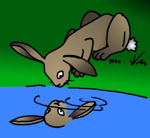 Le lapin et son double du terrier d'Abulédu