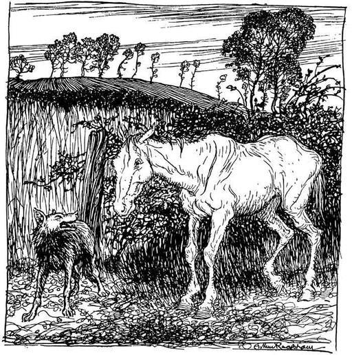 Le loup et le cheval