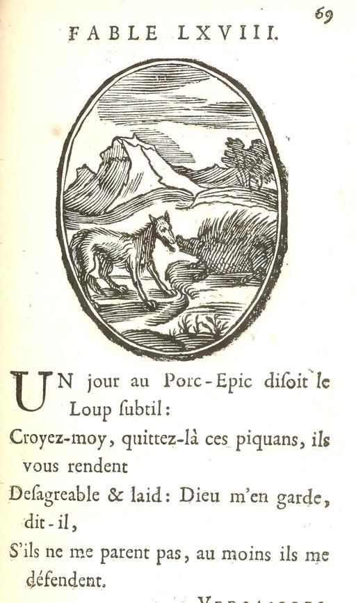 Le loup et le porc-épic