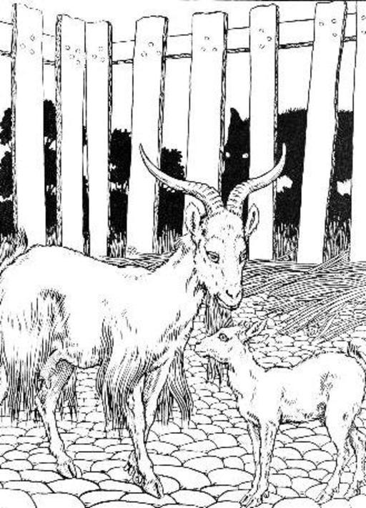 Le Loup, la Chèvre, et le Chevreau