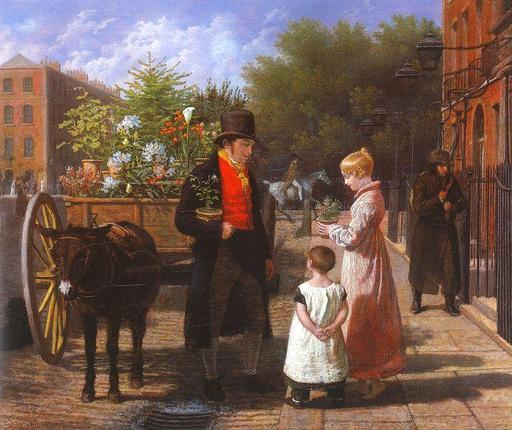 Le marchand de fleurs ambulant
