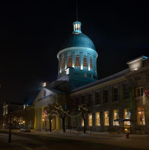 Le Marché du Bonsecours à Montréal de nuit