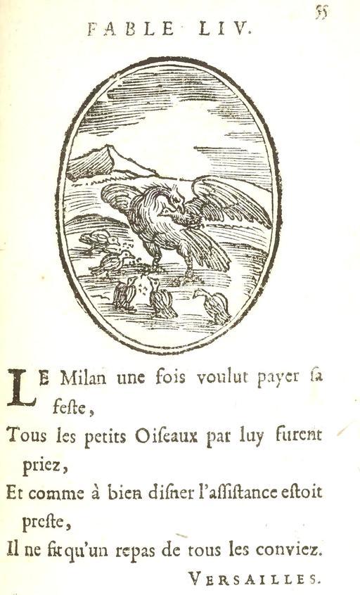 Le milan et les oiseaux