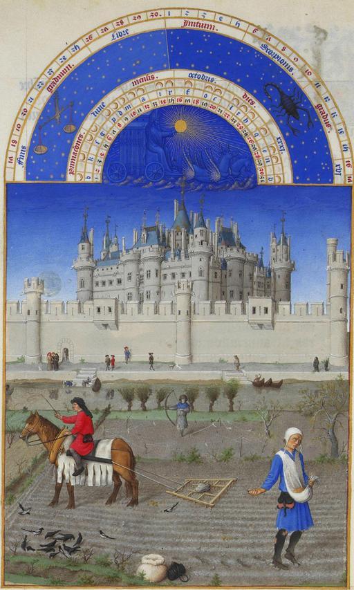 Le mois d'octobre dans les Très Riches Heures du Duc de Berry
