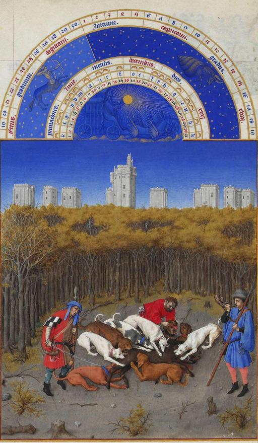 Le mois de décembre des Très Riches Heures du Duc de Berry