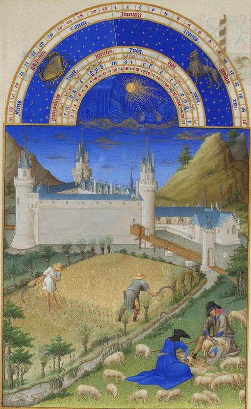 Le mois de juillet dans les Très Riches Heures du Duc de Berry