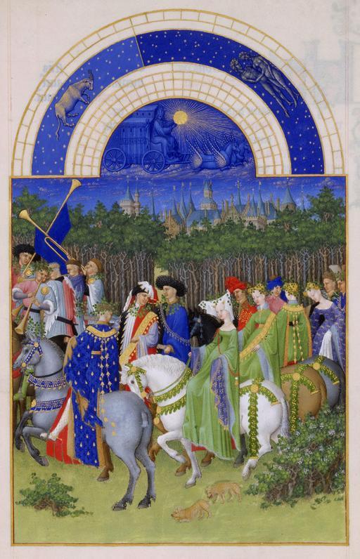 Le mois de Mai des Très Riches Heures du Duc de Berry