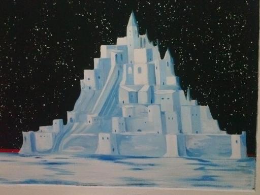 Le Mont Saint-Michel en palais de glace
