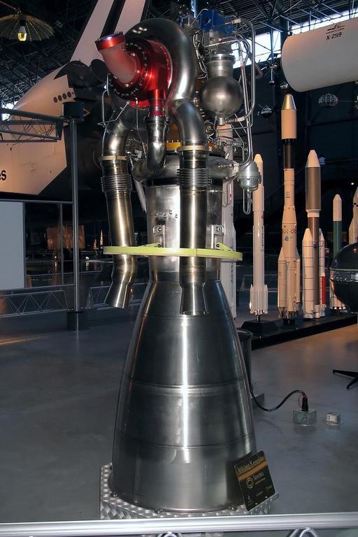 Le moteur Viking 5C de la fusée Ariane 4