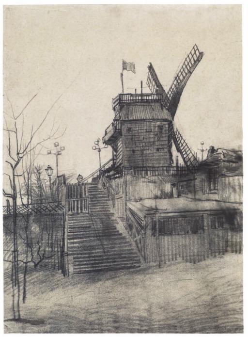 Le moulin de la Galette à Montmartre en 1887