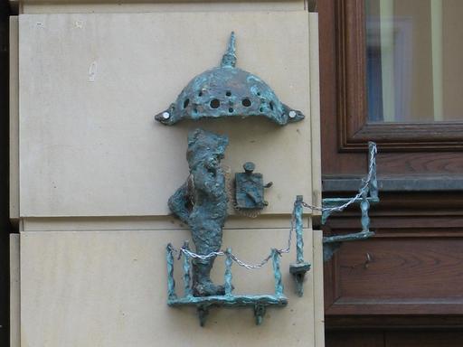 Le nain au téléphone de Wroclaw
