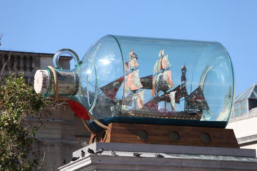 Le navire de Nelson en bouteille