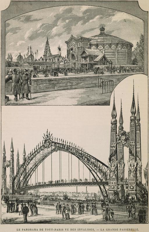 Le panorama de tout-Paris vu des Invalides en 1889