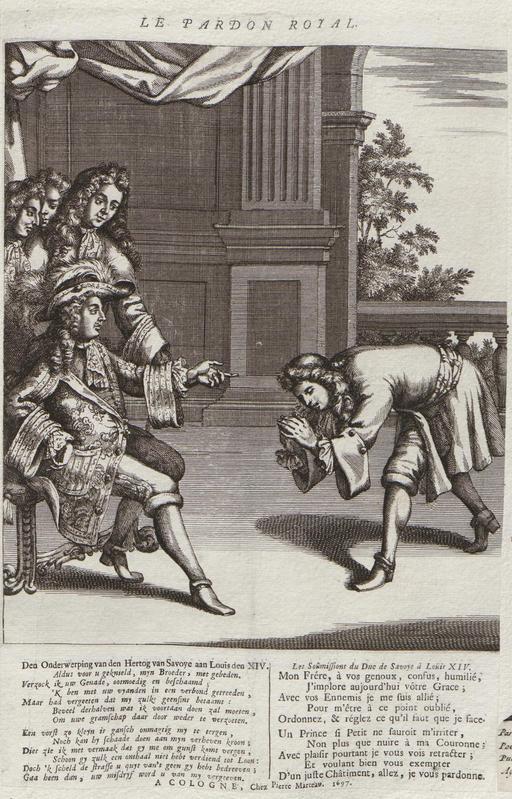 Le pardon royal de Louis XIV en 1697