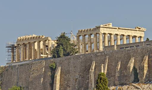 Le Parthénon en travaux à Athènes
