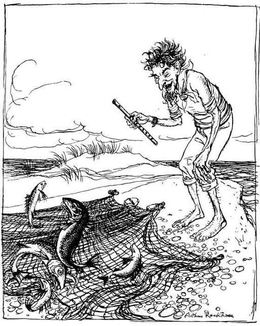 Le pêcheur jouant de la flûte