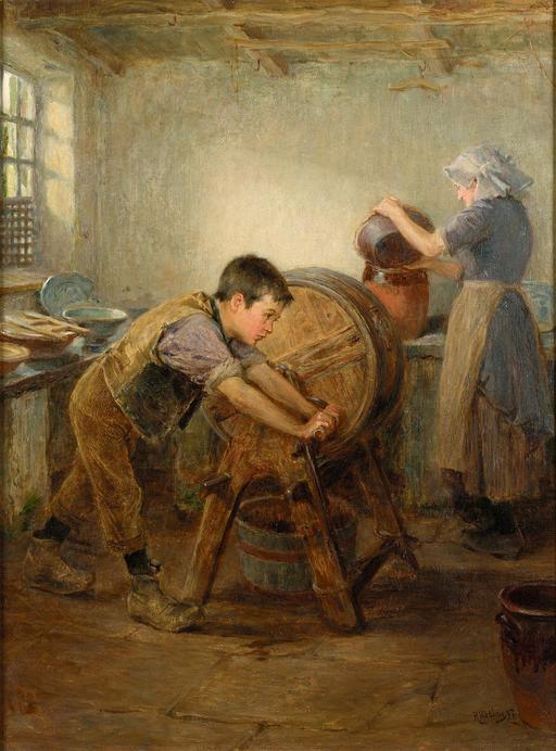 Le petit batteur de beurre en 1897