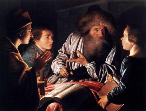 Le philosophe et ses élèves