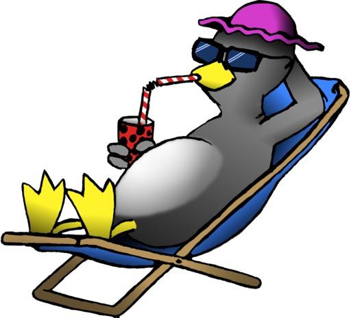 Le pingouin en vacances du terrier d'Abulédu