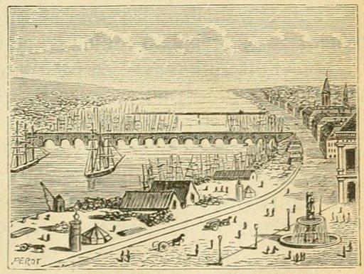 Le pont de Bordeaux en 1877
