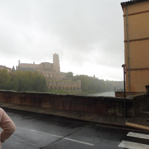 Le Pont Vieux sous la pluie à Albi