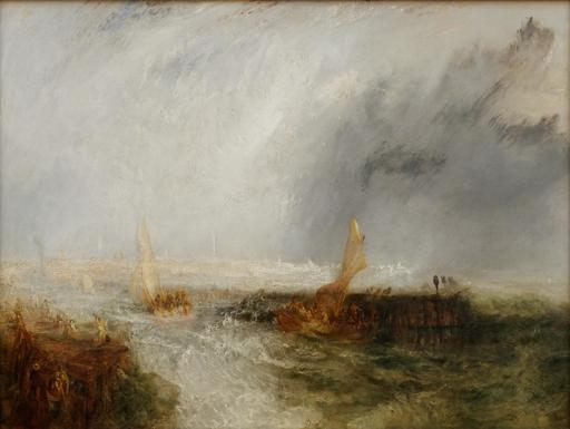 Le port d'Ostende en 1844