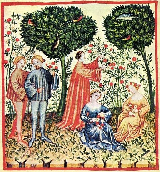 Le printemps au Moyen Age