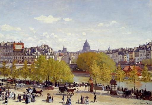 Le quai du Louvre en 1867