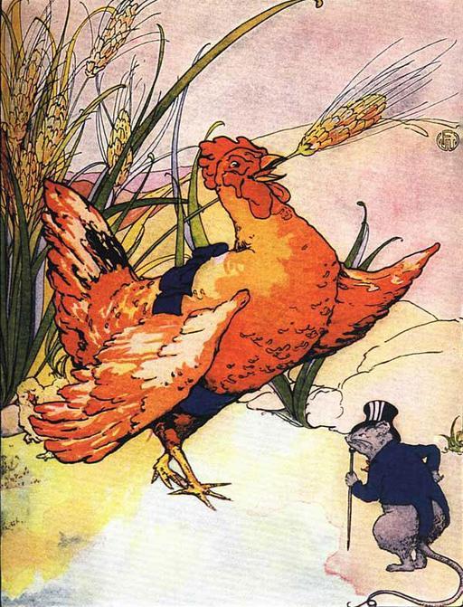Le rat refuse de couper l'épi de blé