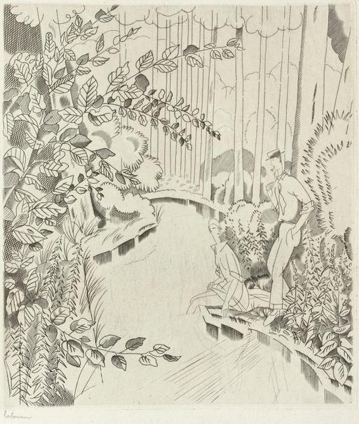 Le ruisseau sous bois en 1927