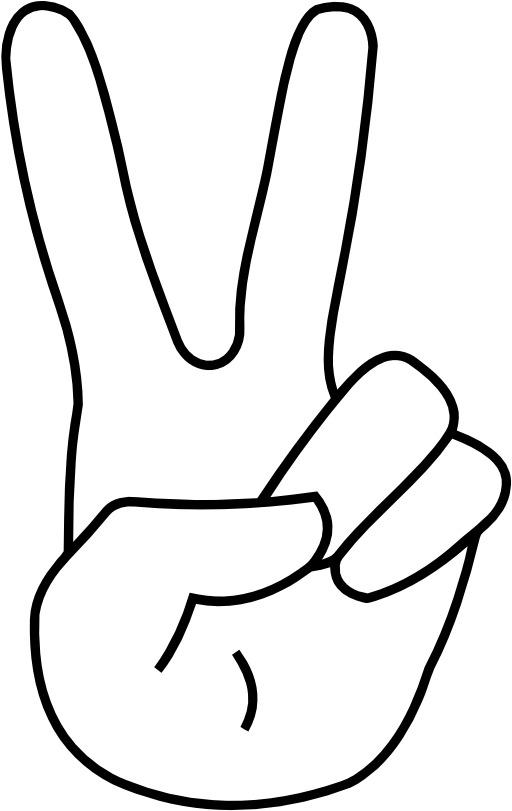 Le signe 2 avec la main