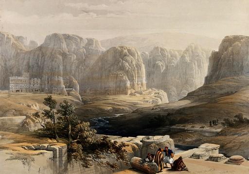 Le site de Petra en 1849
