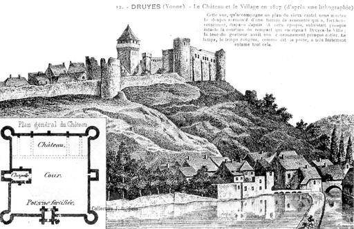Le site du château de Druyes