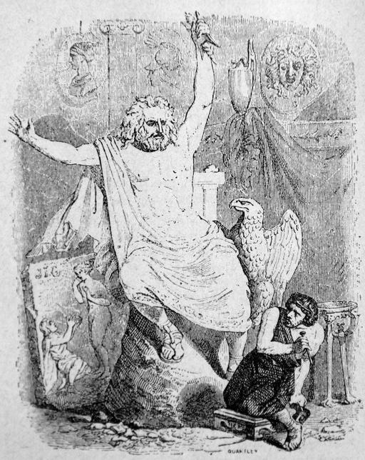Le statuaire et la statue de Jupiter