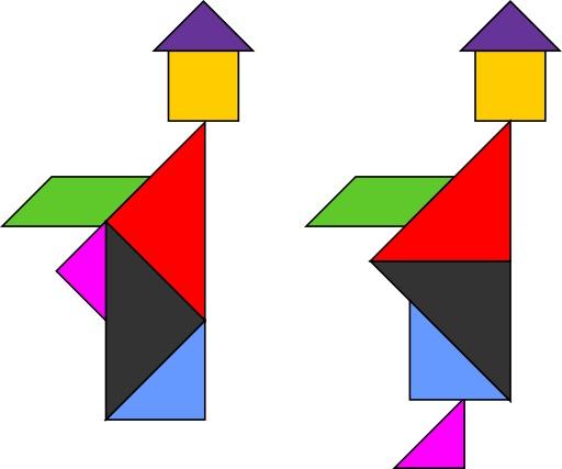 Le tangram des deux moines