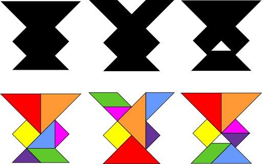 Le tangram des trois vases