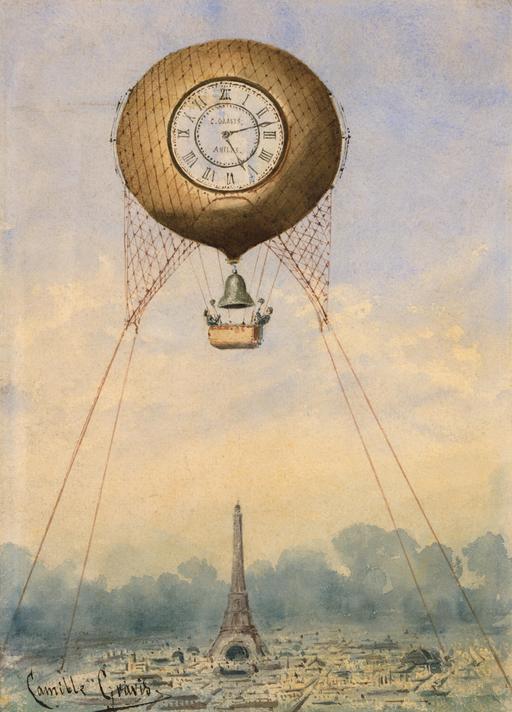 Le temps captif dans une montgolfière