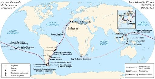 Le tour du monde de Magellan et Elcano