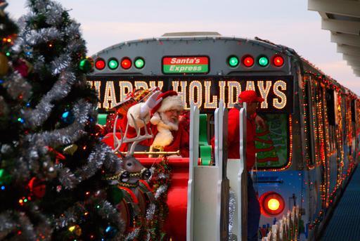 Le train du Père Noël à Chicago