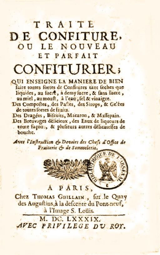 Le traité du confiturier