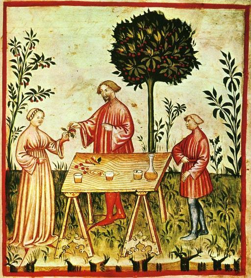 Le vin blanc au Moyen Age