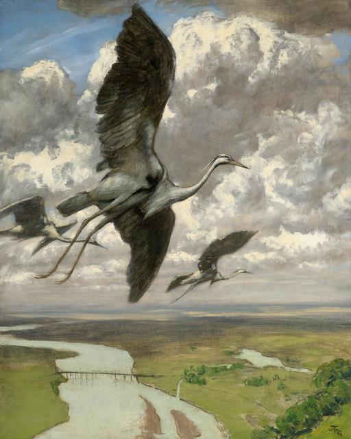 Le vol des hérons