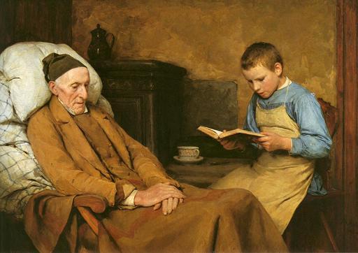 Lecture au grand-père