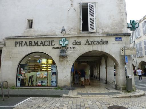 Les arcades à La Rochelle