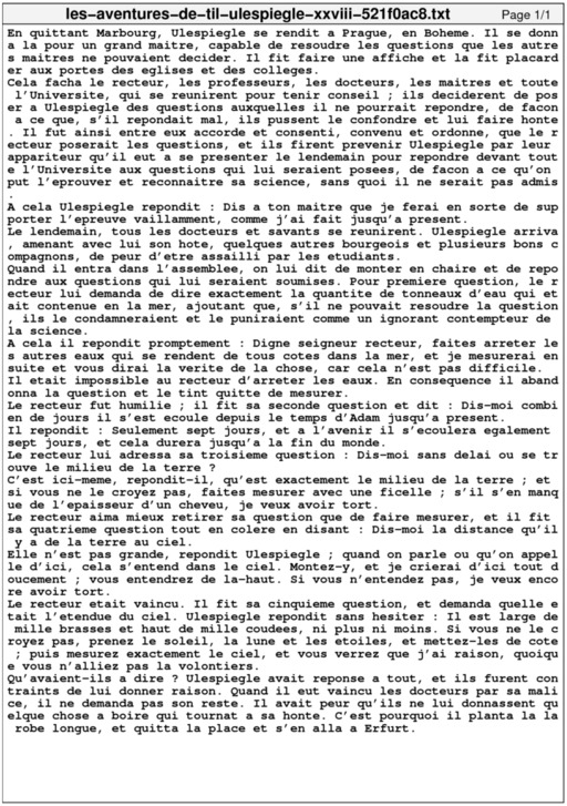 Les Aventures de Til Ulespiègle XXVIII